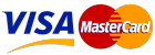 Cards Accepted - Mastercard, Visa